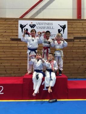 Resultater fra regionalt karatestevne på Vestnes - thumbnail