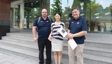 Viktig dialog: Besøkte World Taekwondo Federation under taekwondo-VM - thumbnail