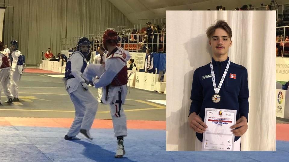 Norsk sølv under Kadett-EM i Taekwondo - thumbnail