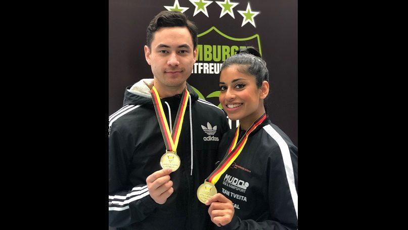To gull i taekwondo mønster - thumbnail