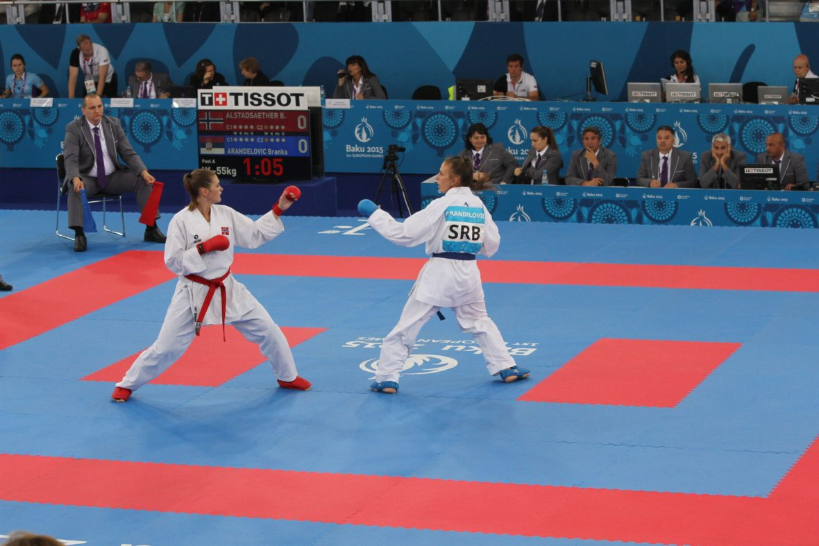 Karate-utøver Bettina Alstadsæther konkurrerer om OL-billett i European Games   - thumbnail