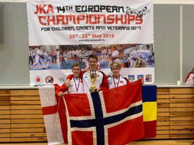 Norske medaljer under JKA-EM - thumbnail