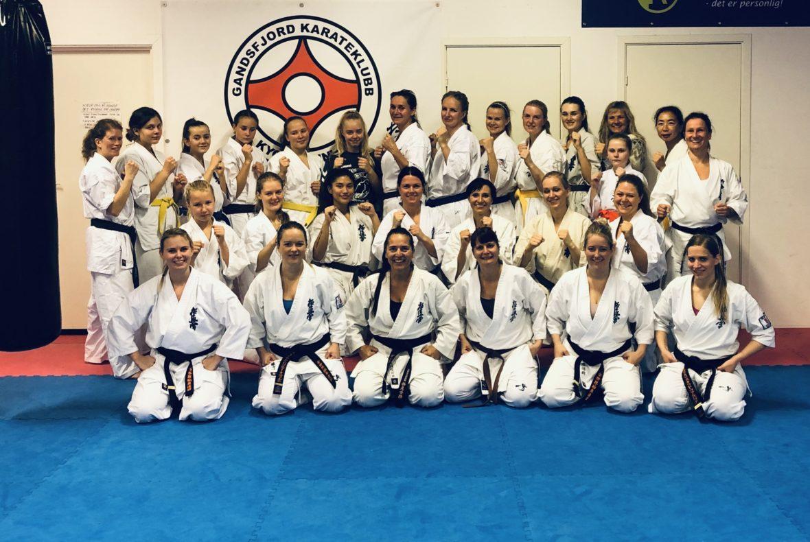 Fullkontakt karate: Vellykket kvinnesamling avholdt - thumbnail
